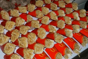 Sixty orders of McDonald's fries eaten by Japanese teenagers