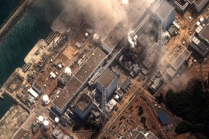 Smoke is seen coming from the Fukushima nuclear power plant in March 2011
