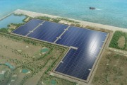 The mega solar panel planned by Mitsui