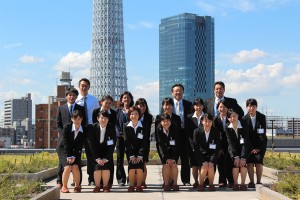 Japanese university students celebrate their job offers with their new employers. Naitei.