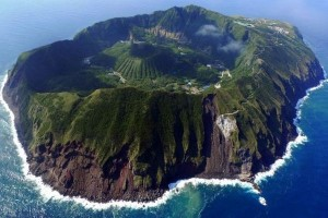 Aogashima, a volcanic island that is home to Japan's least populated village.