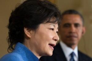 South Korean president Park Geun Hye visits the US, giving a speech at Congress.