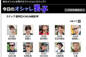 Oricon Style charts the trendiest men in Japan, Japanese street style.