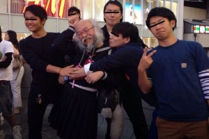 old man who hangs around Tokyo in schoolgirl uniform questioned by police