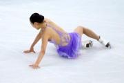 Asada Mao falls during the short program. figure skating