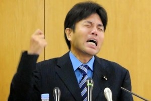 Crying politician Nonomura lampooned by netizens