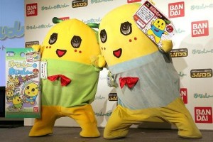Funashi and Funagoro at a promotional event