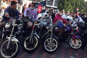 A biker gang in Japan