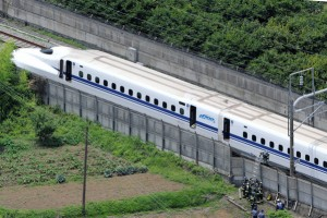 A man tries to set himself alight on a shinkansen in suicide attempt