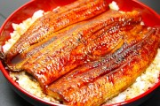 A serving of delicious eel. Or is it catfish?